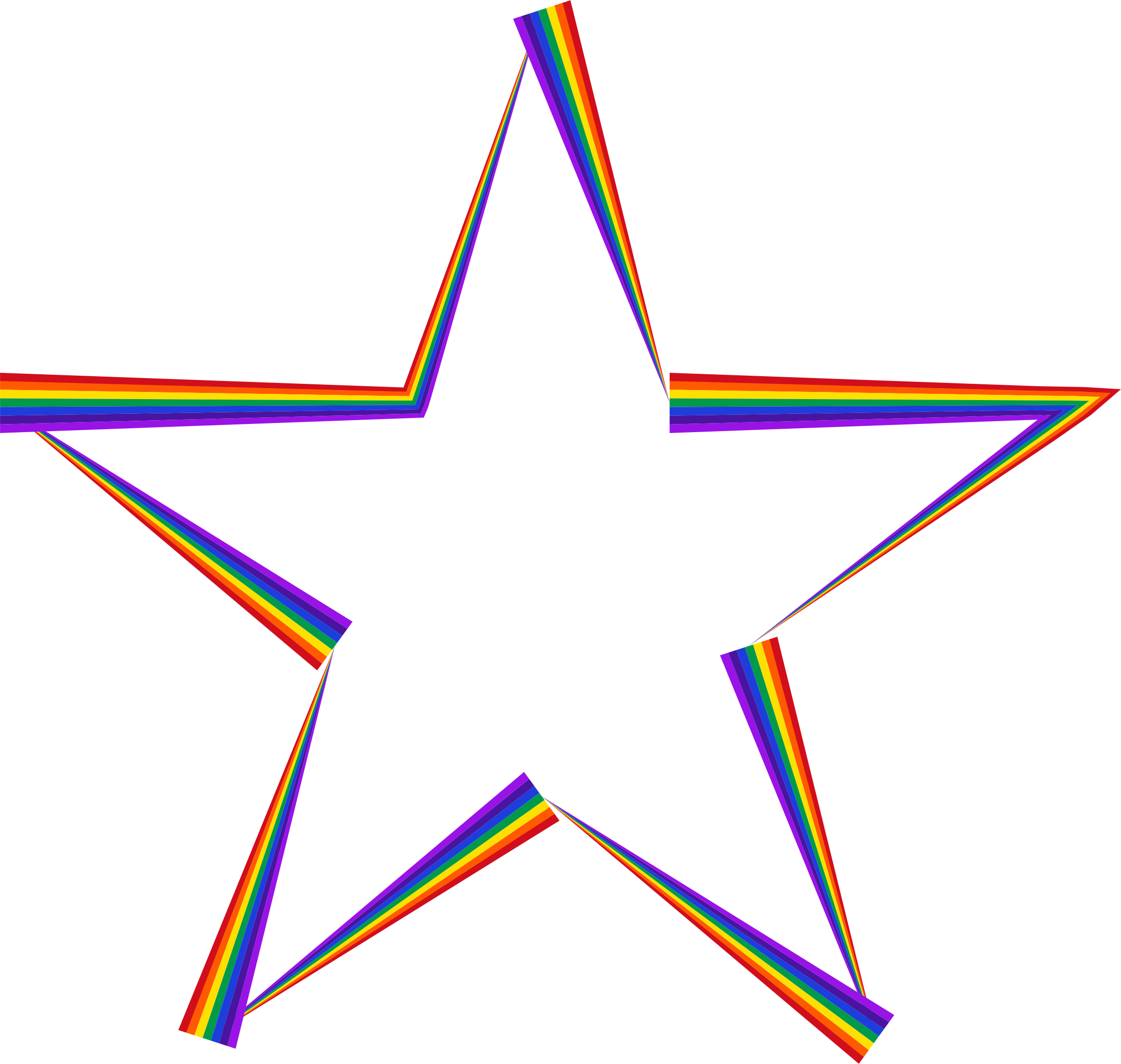 Star rainbow clipart graphic royalty free Clipart - Rainbow Star graphic royalty free