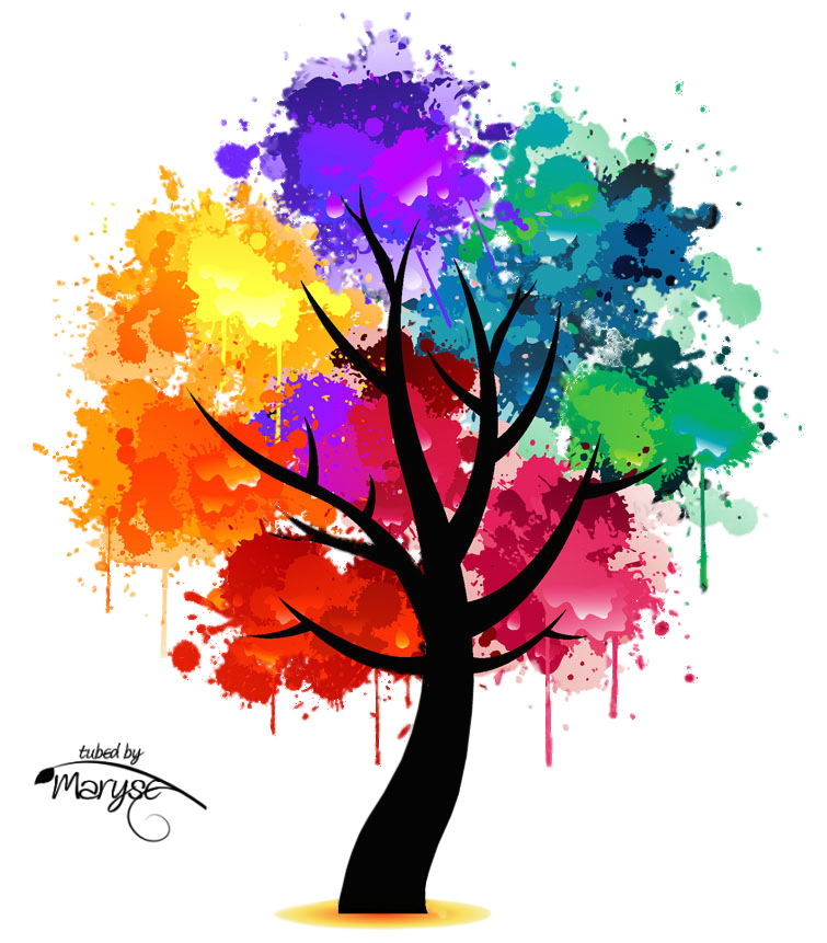 Rainbow tree clipart picture royalty free PSP Tubes & créations de Maryse: MR_Colorful Tree   png   Pinterest ... picture royalty free
