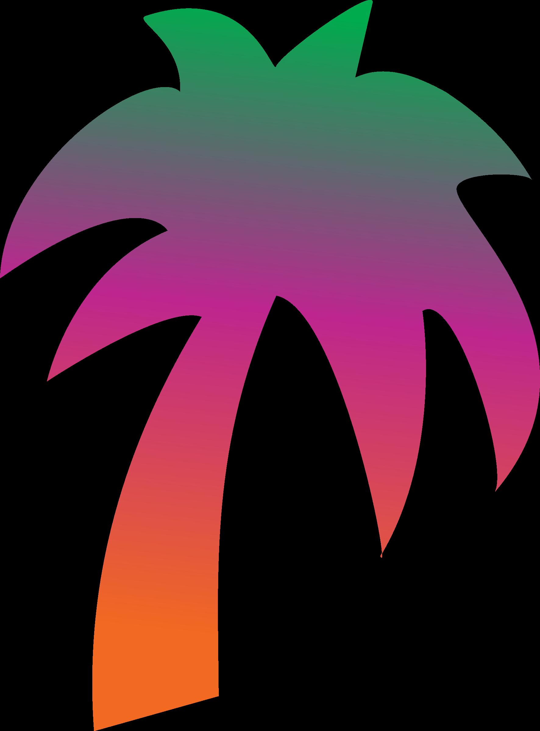 Rainbow tree clipart vector transparent library Clipart - Rainbow palm tree vector transparent library