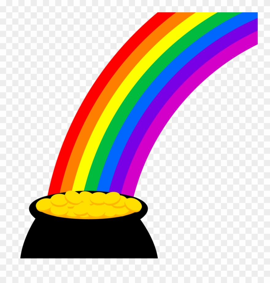 Download Pot Of Gold Clipart Gold Clip Art Rainbow - Pot Of ... png black and white