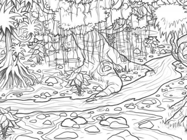 Free Drawn Rainforest, Download Free Clip Art on Owips.com black and white library