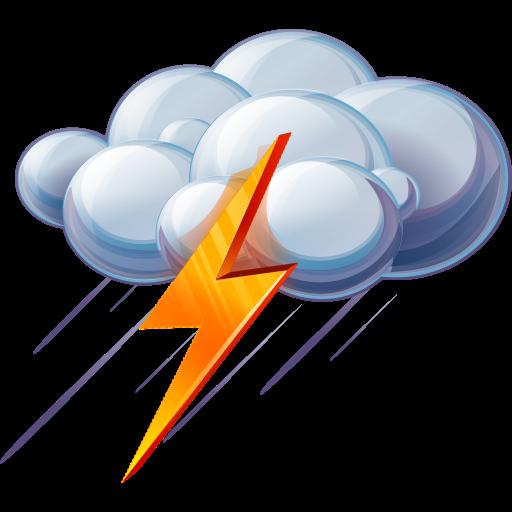 Thundering clipart clip freeuse Rain And Thunder Icon, PNG ClipArt Image | IconBug.com clip freeuse