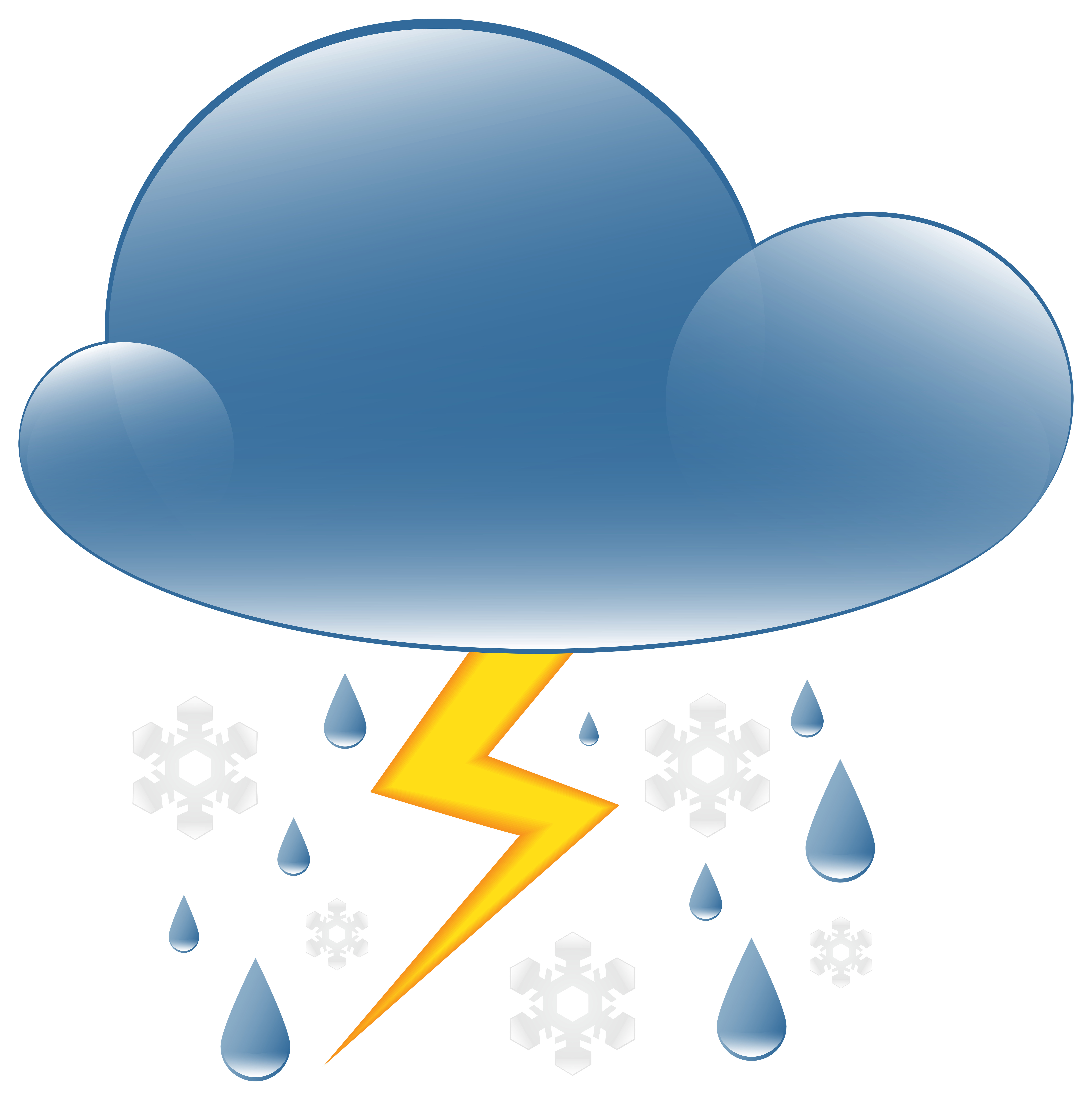 Rainy and thunder clipart vector transparent download Thunder Rain and Snow Weather Icon PNG Clip Art - Best WEB ... vector transparent download