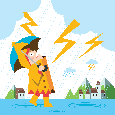 Rain and Thunder | Clipart | PBS LearningMedia graphic freeuse stock