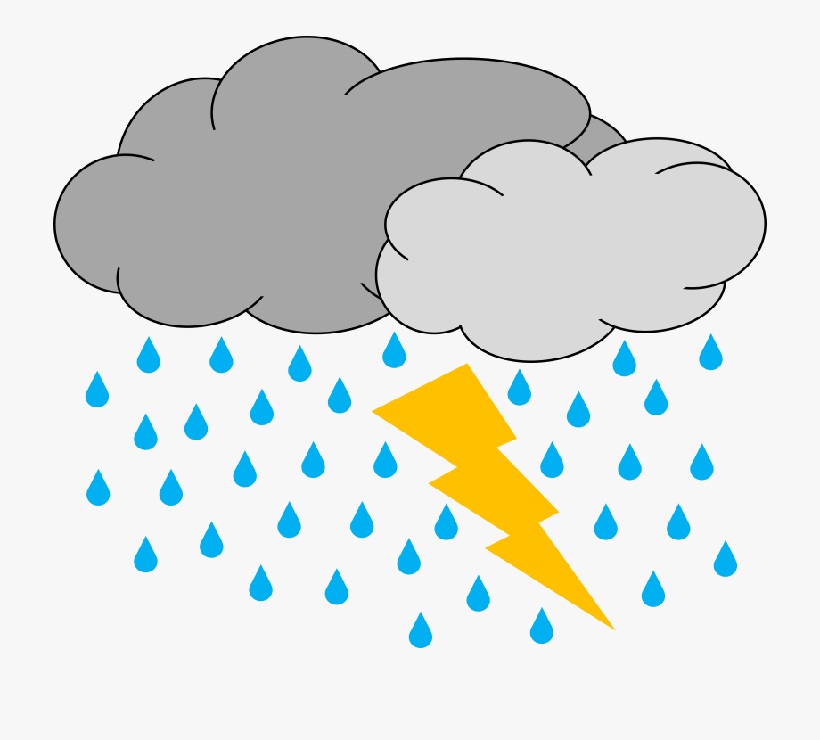 Download Thunderstorm Png Clipart - Rain And Thunder Clipart ... jpg black and white stock