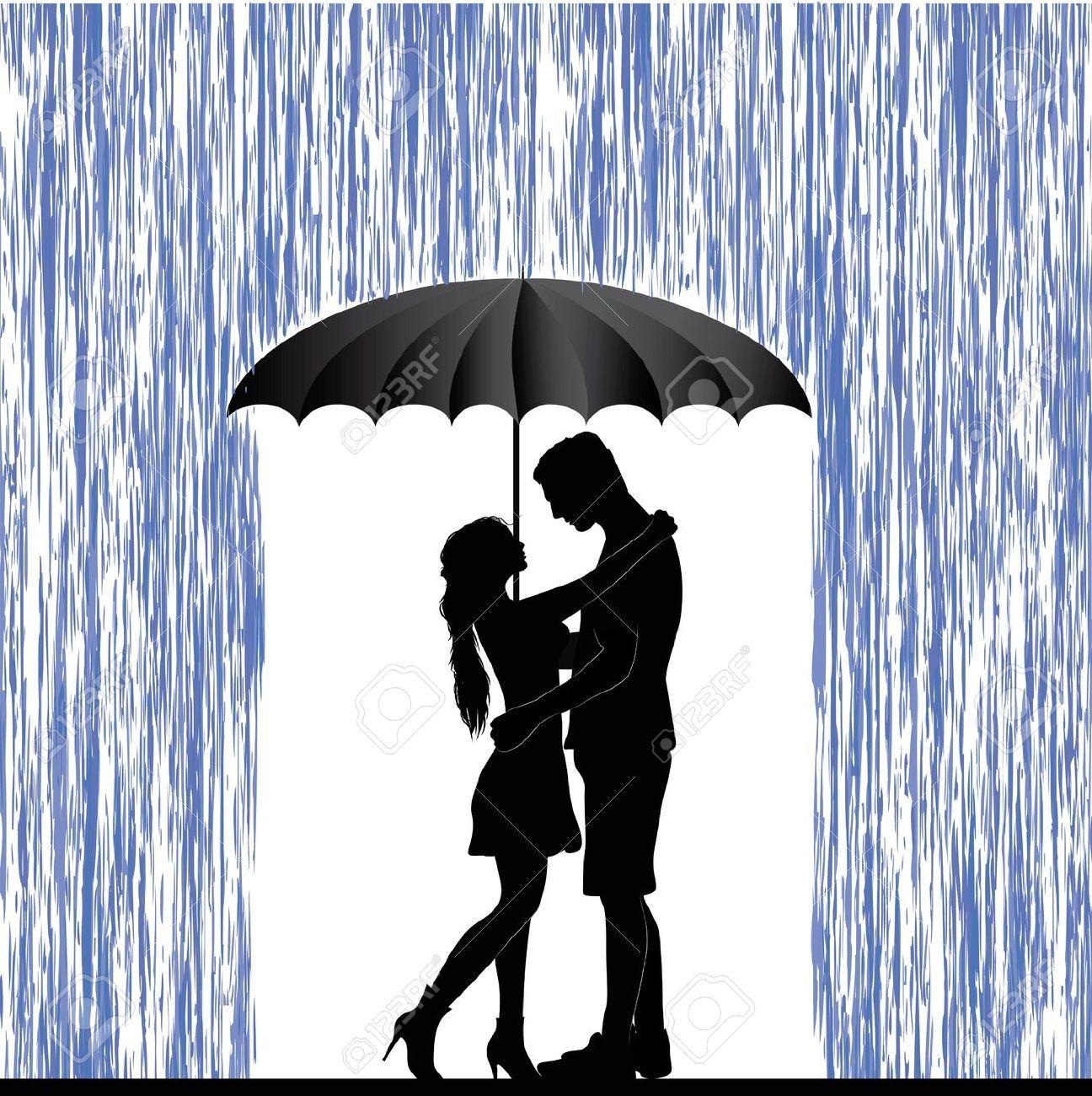 couple under umbrella stencil - Google Search | DIY in 2019 ... vector royalty free