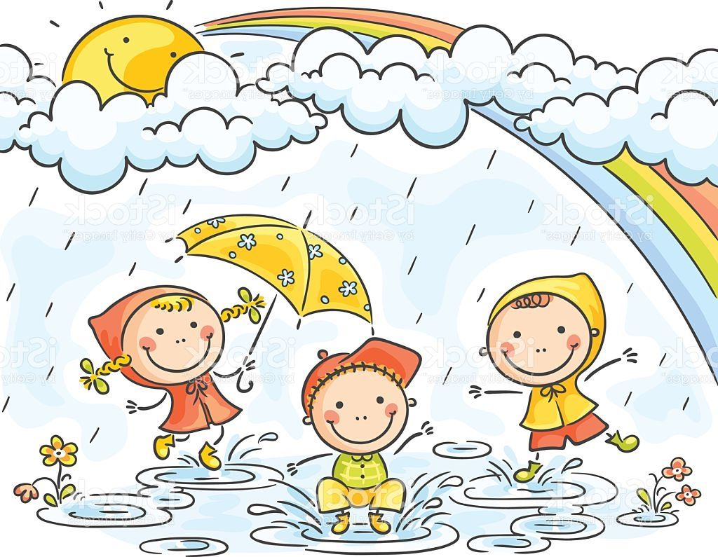 Rainy season clipart graphic freeuse Drawing Of Rainy Season For Children Rain Drawing For Kids ... graphic freeuse