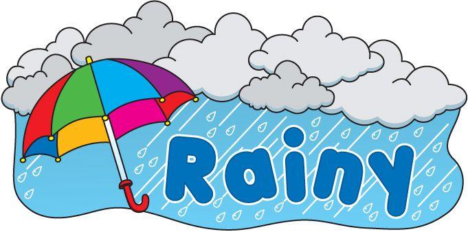 Rainy season clipart graphic library stock Rainy - clipart #weather | Reference & Misc. | Weather ... graphic library stock