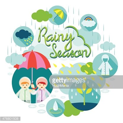 Rainy season clipart graphic free stock Boy and Girl Rainy Season Heading premium clipart ... graphic free stock