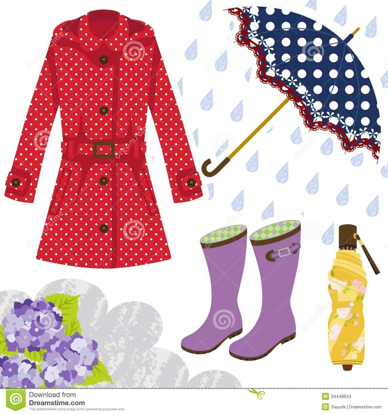 Rainy season clothes clipart clipart freeuse Pin by connie taylor on umbrella-not just for rain | Rain ... clipart freeuse