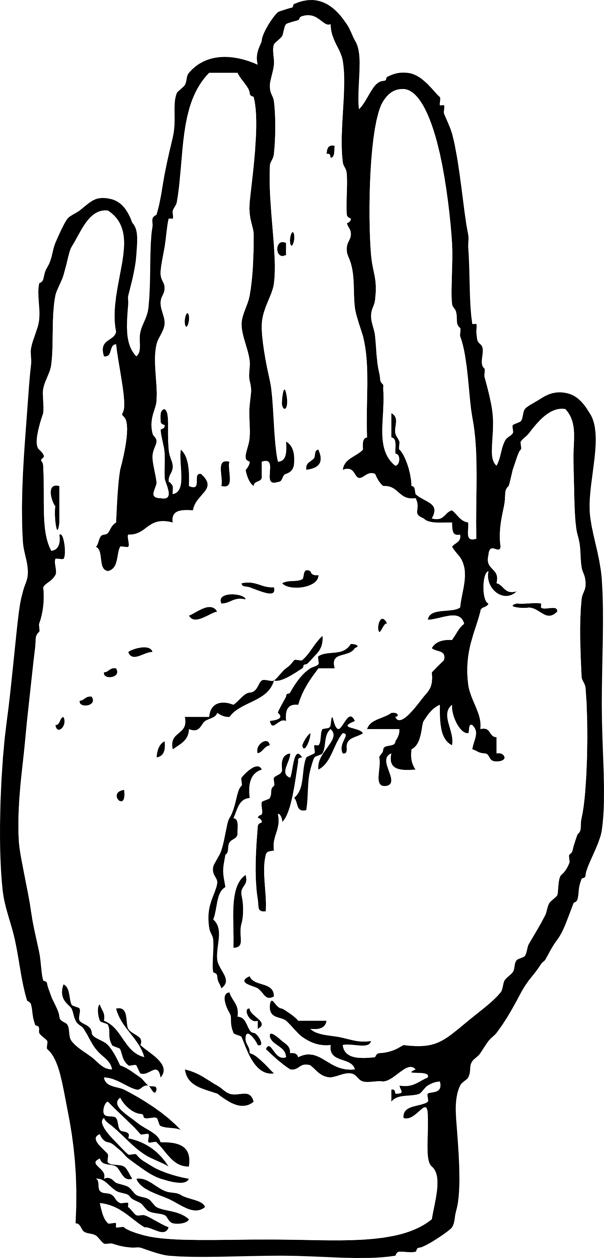 Palm hand free black and white clipart clipart Raise Your Hand Clipart | Free download best Raise Your Hand ... clipart
