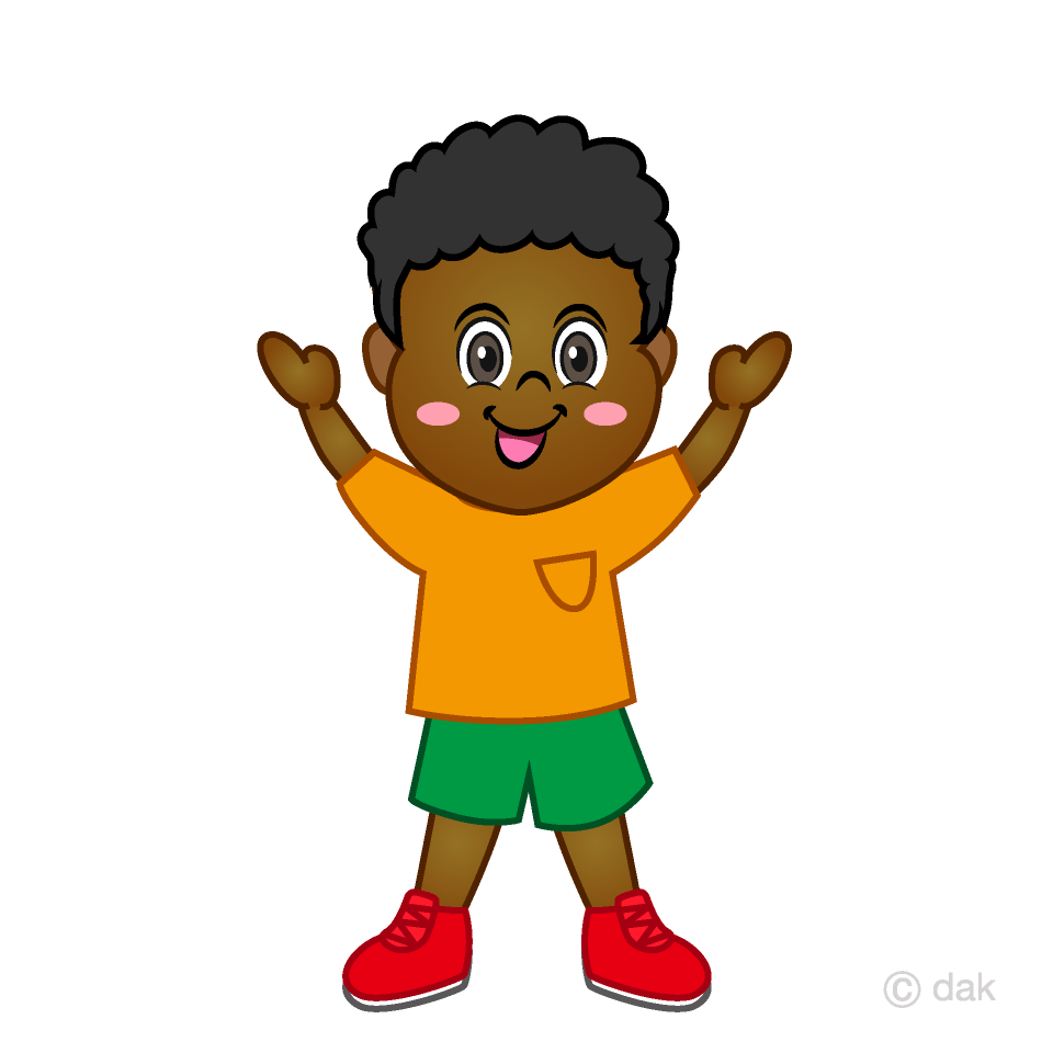 Raising clipart picture black and white download Boy raising both hands Clipart Free Picture|Illustoon picture black and white download