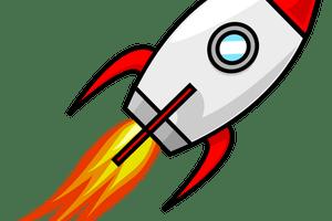 Rakete clipart 2 » Clipart Portal clip black and white stock