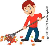Raking leaves clipart free png freeuse library Raking Leaves Clip Art - Royalty Free - GoGraph png freeuse library