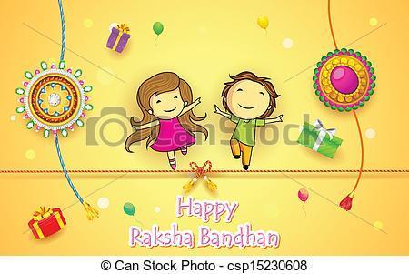 Clipart of raksha bandhan » Clipart Portal vector stock