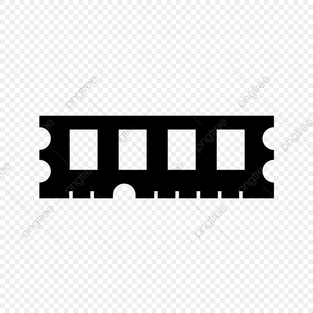 Vector Ram Icon, Chip, Memory, Ram PNG and Vector with ... graphic black and white
