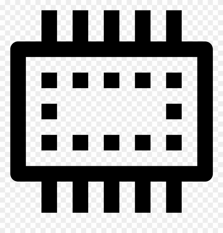 Smartphone Ram Icon - Calendar Icon Black And White Png ... clip art library download
