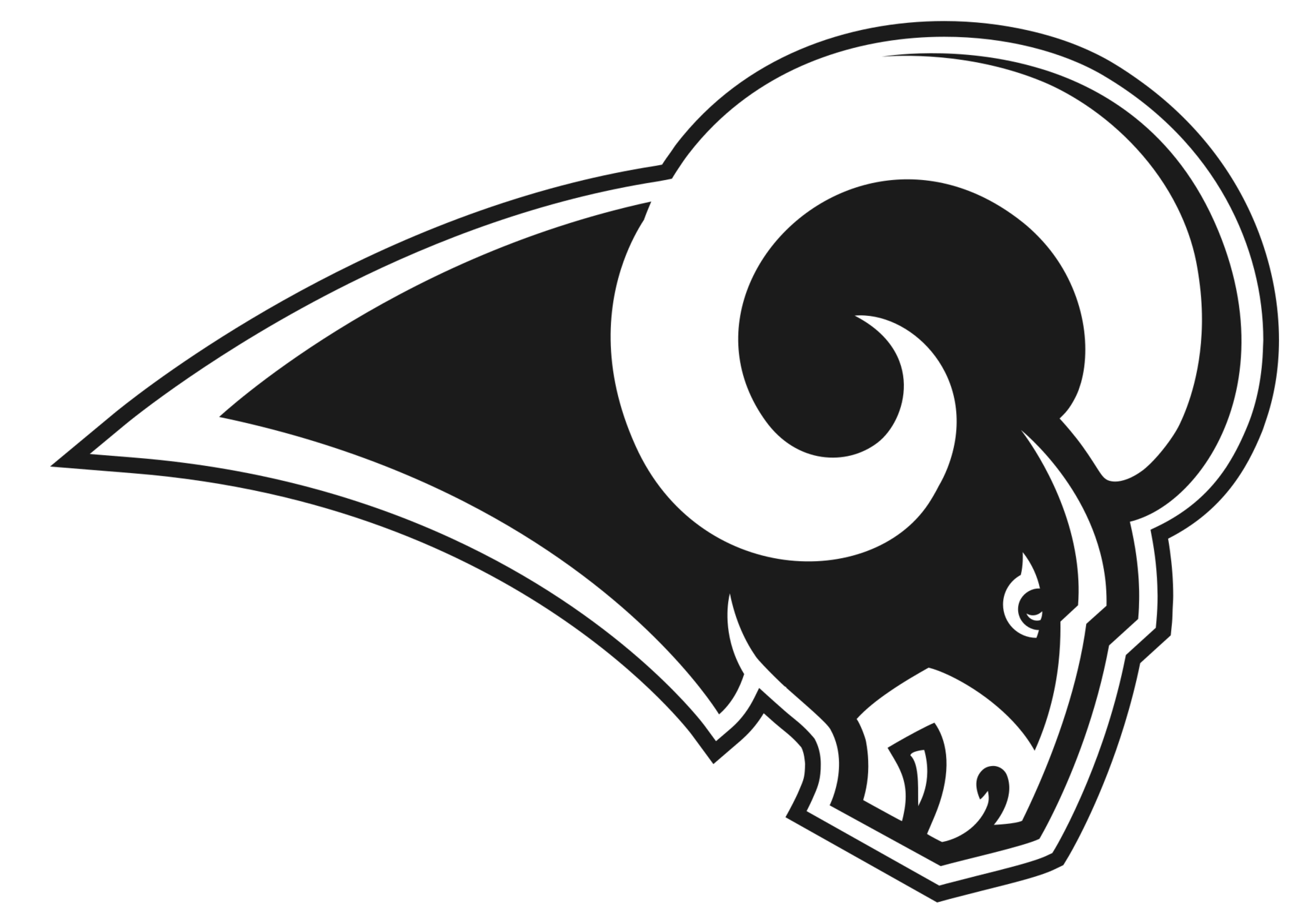 Ram logo clipart picture black and white download Los Angeles Rams Logo 2018 Clipart - Full Size Clipart ... picture black and white download