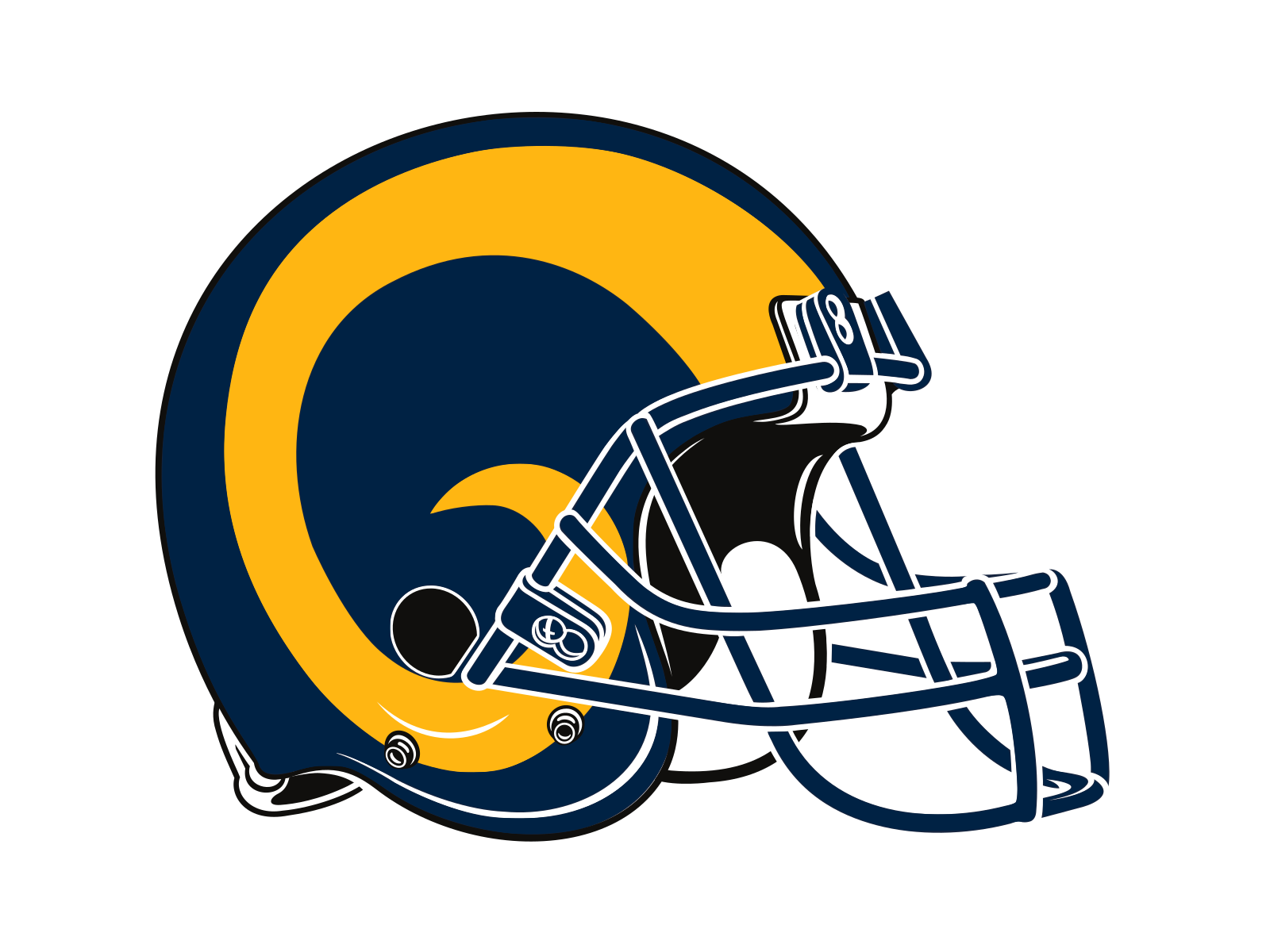 Rams football logo clipart png library library Los Angeles Rams Logo PNG Transparent & SVG Vector - Freebie Supply png library library
