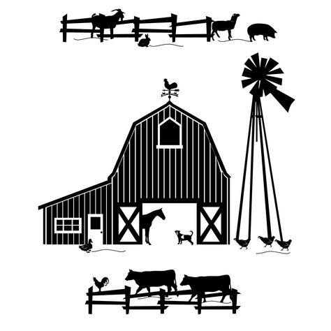 Ranch clipart black and white image black and white Pinterest image black and white