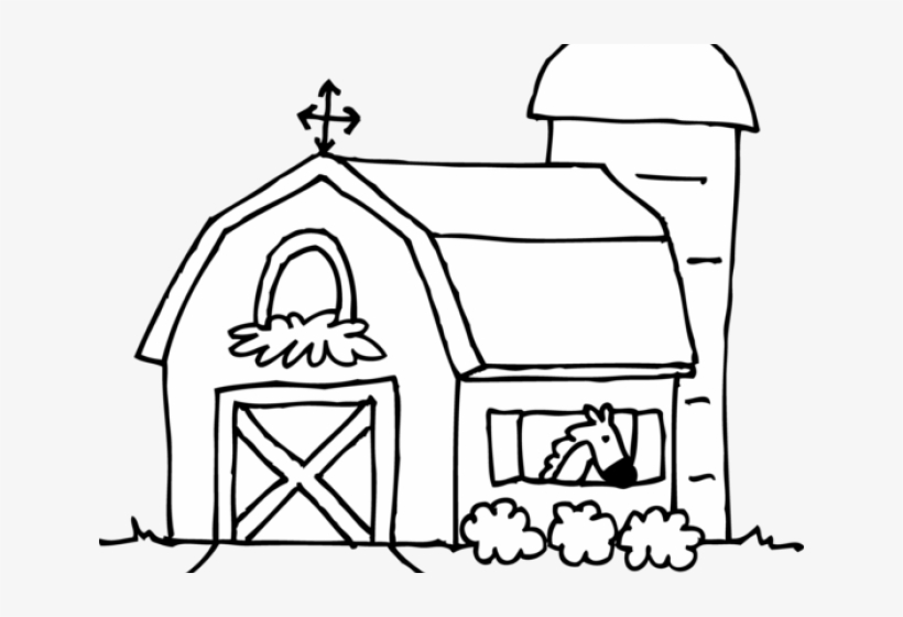 Ranch clipart black and white banner library library Ranch Clipart Horse Barn - Barn Clip Art Black And White PNG ... banner library library
