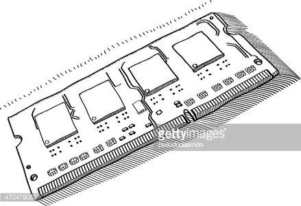 Random access memory clipart jpg freeuse stock Random Access Memory Strip for Laptops premium clipart ... jpg freeuse stock