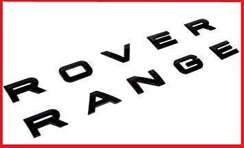 Range rover logo clipart picture freeuse download New SET Range Rover Glossy Black Land Rover Range Emblem Logo Badge Letters  H... picture freeuse download