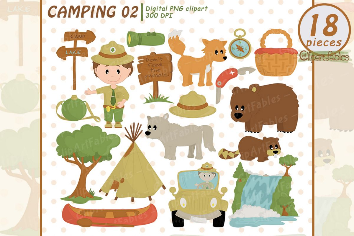 Ranger clipart image freeuse library RANGER clipart, Wild life, Cute outdoor clipart, Camping art image freeuse library