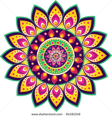 Colorful Indian pattern - stock vector | decoupage in 2019 ... graphic freeuse download