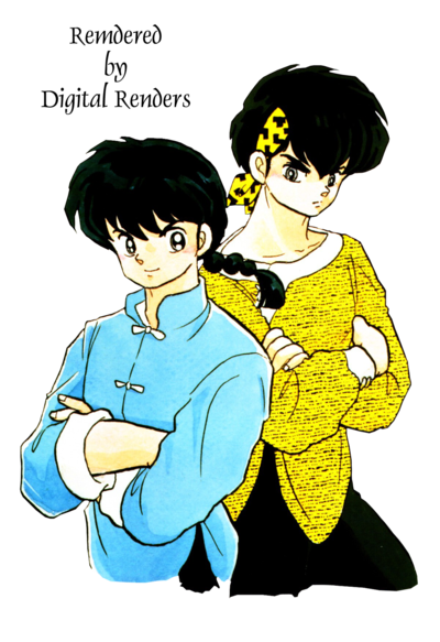 Ranma 1 2 clipart png freeuse Ranma and Ryoga Render from Ranma 1/2 by mikigirl18 on DeviantArt png freeuse