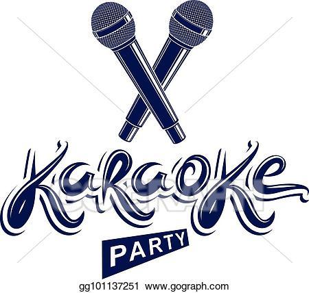 Rap battle clipart vector download Vector Clipart - Karaoke party lettering, rap battle vector ... vector download