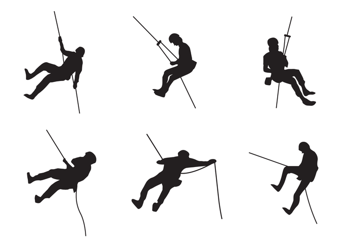 Rappelling clipart image royalty free stock Rappel Silhouette Vector - Download Free Vectors, Clipart ... image royalty free stock