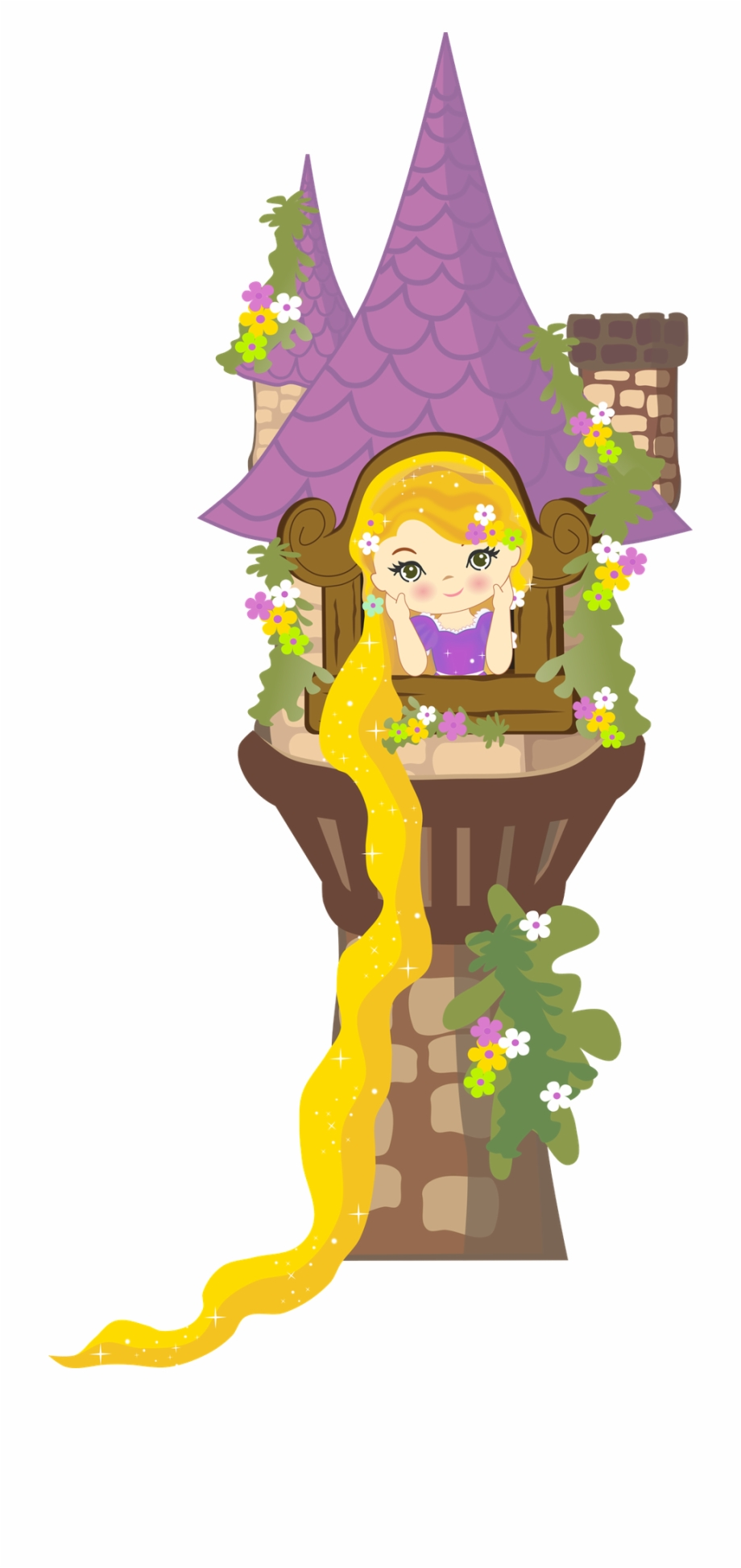 Rapunzel tower clipart banner royalty free library Clipart Freeuse Library Minus Say Hello Brave More ... banner royalty free library
