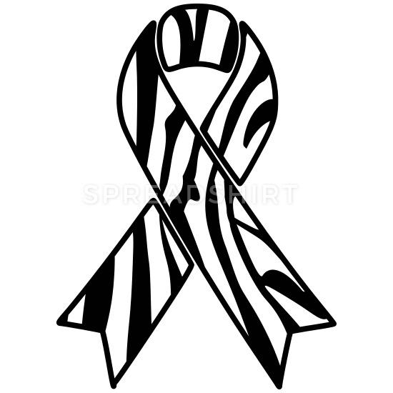 Rare awareness ribbon clipart png black and white download Zebra Awareness Ribbon Mouse pad Horizontal - white png black and white download