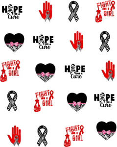 Rare awareness ribbon clipart clipart black and white Details about Rare Disease Awareness Ribbon Waterslide / Water Transfer  Nail Decals/Nail Art clipart black and white