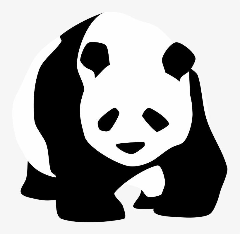 Rare clipart graphic black and white stock Rare Clipart Chinese Panda - Panda Black And White ... graphic black and white stock