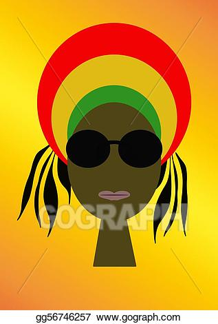 Rasta clipart graphic free library Stock Illustration - Rasta. Clipart Illustrations gg56746257 ... graphic free library