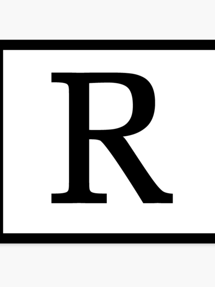 Rated r logo clipart freeuse download Rated R   Canvas Print freeuse download