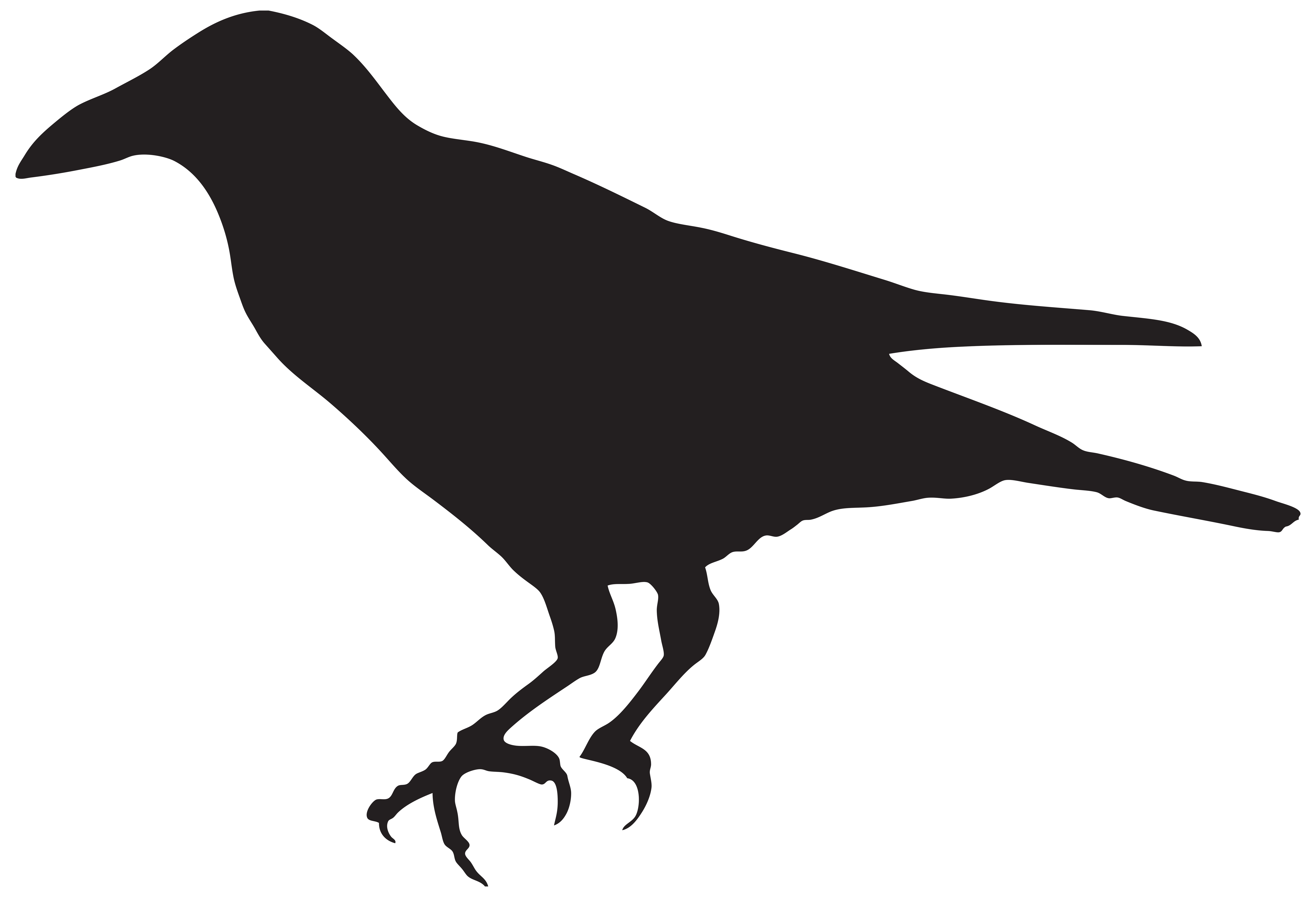 Raven in tree clipart graphic freeuse download Crow Silhouette PNG Clip Art Image | Sewing | Pinterest | Crow ... graphic freeuse download