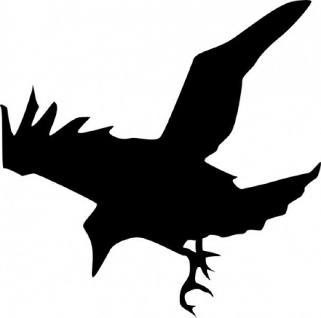 Raven vector clipart image transparent library silhouette clipart | Raven Silhouette clip art | Download ... image transparent library