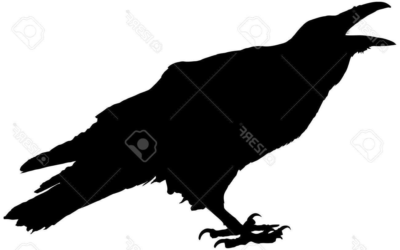Raven vector clipart clip art freeuse Best Raven Silhouette Vector Image » Free Vector Art, Images ... clip art freeuse