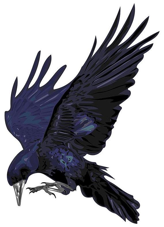 Raven vector clipart png transparent download Stylized Raven. Vector art. Printable ClipArt,Eps,Ai,Jpg,SVG ... png transparent download