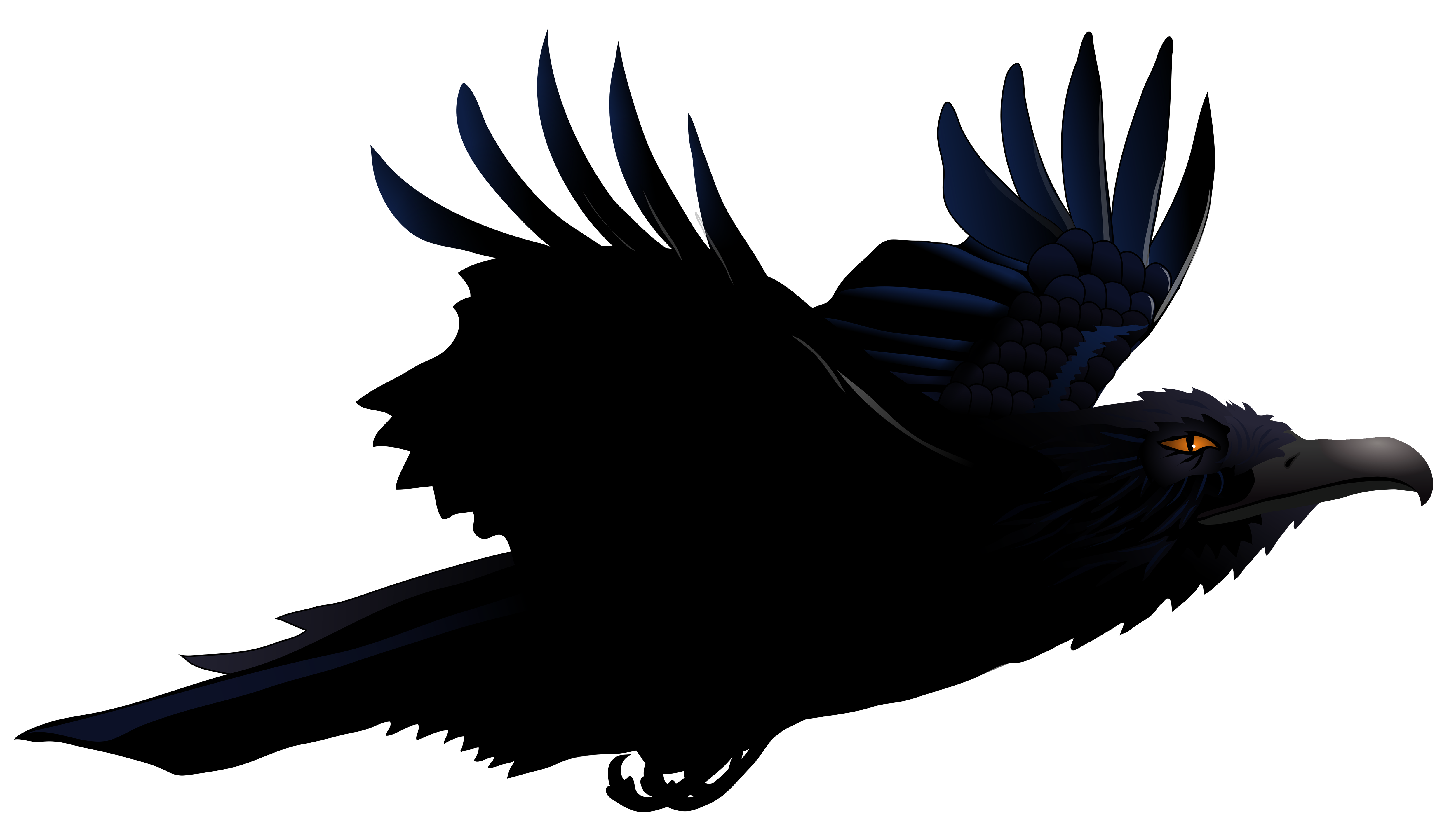 Raven vector clipart banner royalty free Raven PNG Vector Clipart Picture | Gallery Yopriceville ... banner royalty free