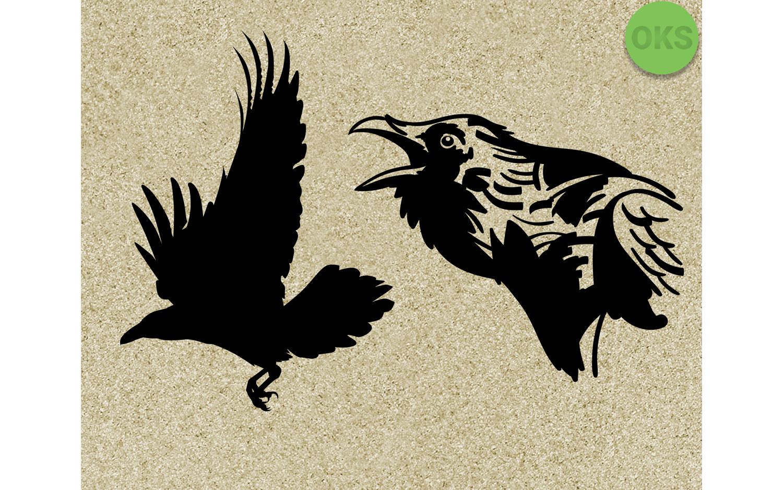 Raven vector clipart clip art royalty free Raven Svg Vector Clipart Download clip art royalty free