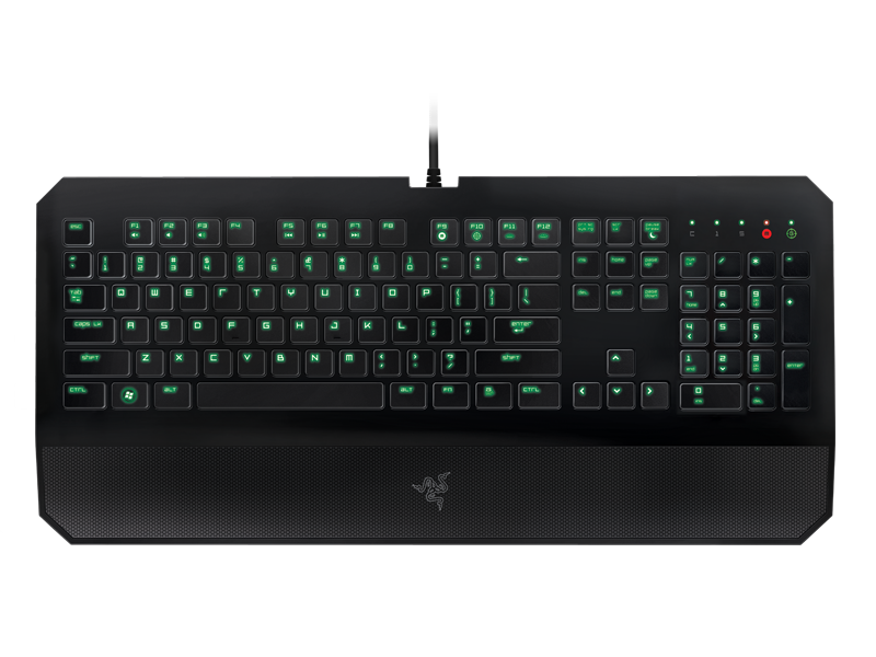 Razer DeathStalker Gaming Keyboard - Fully Programmable Keys ... clip freeuse stock