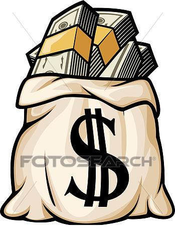 Rch clipart black and white library Money Sign Clipart Bag K With Dollar - Clipart1001 - Free ... black and white library