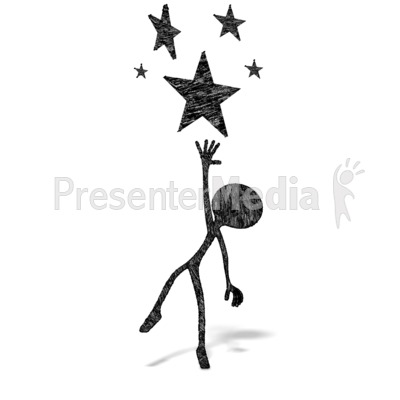 Reach for stars clipart black and white vector free stock Reach Of The Stars - 3D Figures - Great Clipart for ... vector free stock