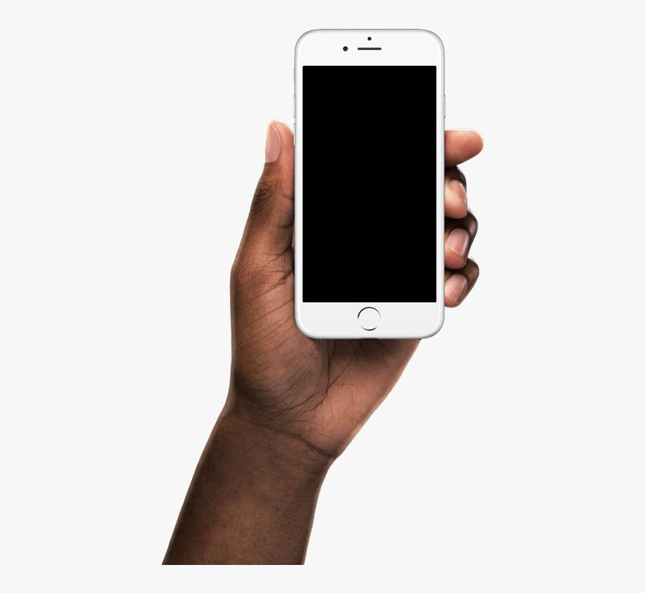 React Native App Open Source - Black Hand Holding Phone ... jpg royalty free stock