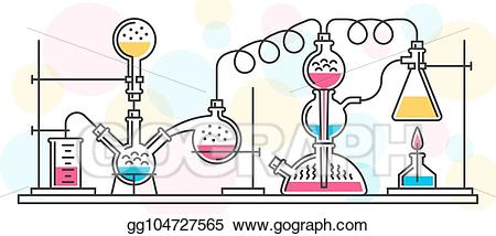 Vector Stock - Chemical reaction. Clipart Illustration ... freeuse stock