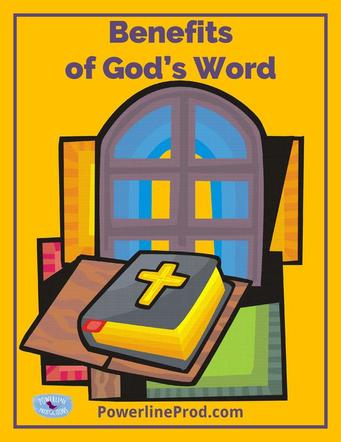 Read gods word clipart vector stock Benefits of God\'s Word vector stock